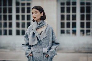 2018 Pre-Fall Collection - Esmée Checker Scarf Cashmere Blend Coat – QUAINT