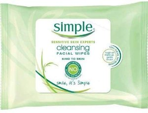 Amazon.com : Simple Sensitive Skin Makeup Removing Cleansing Wipes No Harsh Chemicals 3 Packs of 25 Wipes : Beauty