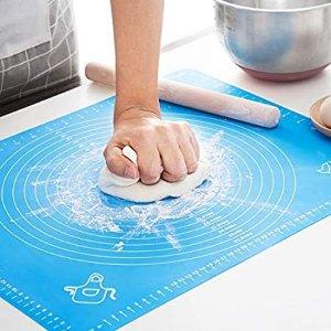 "Amazon.com: Silicone Baking Mat, Non Stick Ectra Thick Counter Mat with Measurement Baking Sheet, Fondant Mat, Dough Rolling Mat, Pie Crust Mat (20"" W x 28"" L): Kitchen & Dining"