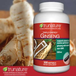 trunature Triple Energy Ginseng 300 mg., 300 Softgels