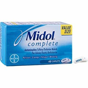 Amazon.com: Midol Complete, Menstrual Period Symptoms Relief Including Premenstrual Cramps, Pain, Headache, and Bloating, Caplets, 40 Count: Health & Personal Care