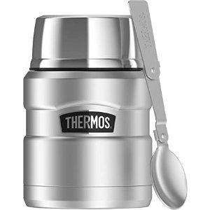Thermos不锈钢焖烧杯 带不锈钢折叠勺