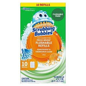 Scrubbing Bubbles 厕所清洁刷+10个补充装套装