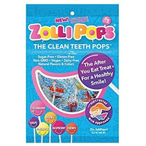 $5.29Zollipops The Clean Teeth Pops, Anti Cavity 25 Count Lollipops, Delicious Assorted Flavors, 5.2 Ounce (Pack of 1)