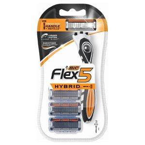 2件$3.18 平均$1.59/支BIC Flex 5 男士一次性剃刀