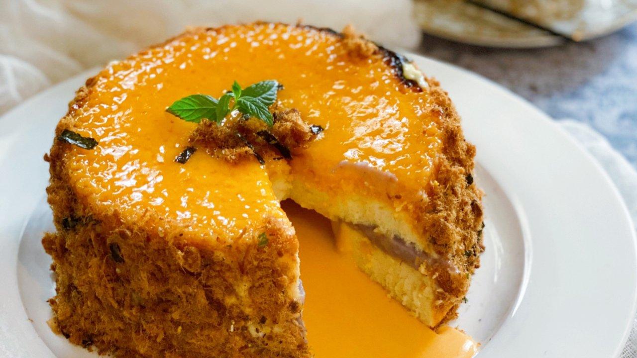 网红爆款甜品 |岩烧乳酪咸蛋黄爆浆蛋糕