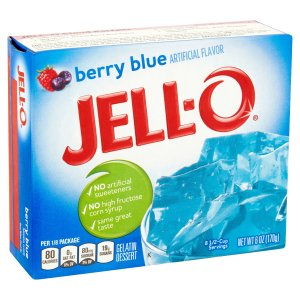 Jell-O: Berry Blue Gelatin Dessert, 6 Oz - Walmart.com