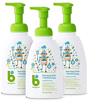 Amazon.com: Babyganics Foaming Dish Soap, Pump Bottle, Fragrance Free, 16oz, 3 Pack, Packaging May Vary: Health & Personal Care