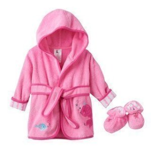 Baby Girl Just Born Robe & Booties Set   Kohls