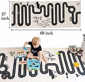 Amazon.com: LISIBOOO Cotton Baby Infant Crawling Blanket,Play Games Floor Mat Road Adventure Racing Carpet,Kids Long Pad for Bedroom Playroom Nursery Classroom Indoor,69x27inch Rectangle Area Rugs: Toys & Games