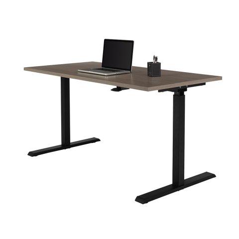 Realspace® Magellan Pneumatic Sit-Stand Height-Adjustable Desk