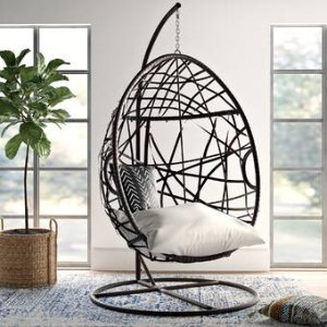 Mistana Destiny Tear Drop Swing Chair with Stand & Reviews | Wayfair