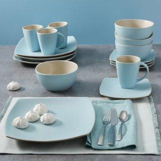 $29.99Gibson Home 天蓝色陶瓷餐具16件套