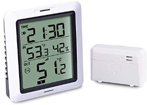 Amazon.com: ECOWITT WH0280 Indoor Outdoor Thermometer Digital Hygrometer Temperature Humidity Monitor with Remote Temperature Sensor: Home & Kitchen