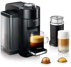 Amazon.com: Nespresso Vertuo Coffee and Espresso Machine Bundle with Aeroccino Milk Frother by De'Longhi, Black: Kitchen & Dining