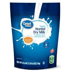 Great Value Nonfat Instant Dry Milk, 25.6 oz - Walmart.com