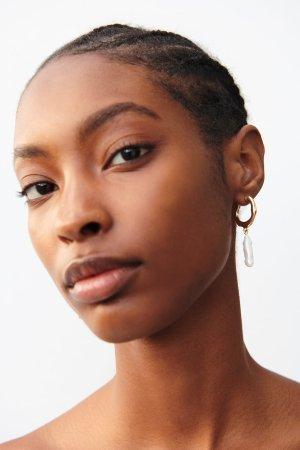 PEARL HOOP EARRINGS-Jewelry-ACCESSORIES-WOMAN   ZARA United States