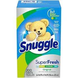 Snuggle SuperFresh 衣物柔顺烘干纸 200张