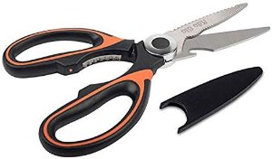 Ado Glo Kitchen Scissors - Heavy Duty Kitchen Shears for Meat Poultry Herb Vegetables