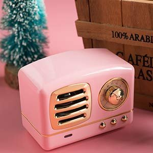 Amazon.com: Dosmix Wireless Stereo Retro Speaker, Portable Bluetooth Vintage Speaker with Built-in Mic,USB, SD Card Slot & AUX for Kitchen/Bedrooms/Desk/Shelf/Party/Travel/OutdoorAndroid/iOS Speaker: Electronics