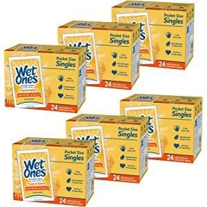 抗菌擦手湿巾独立包装 24片x6包