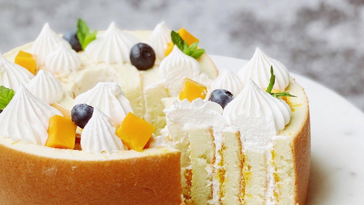 🌿蛋糕甜品DIY  一圈一圈,幸福环环相抱的香芒年轮蛋糕🌿🌿🌿