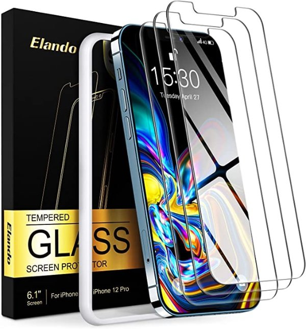 Elando iPhone 12 / 12 Pro 通用钢化屏幕保护贴膜