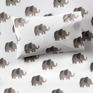 Organic Elephant Toddler Pillowcase + Reviews | Crate and Barrel
