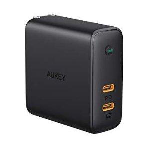 $32.99 苹果全家桶绝配AUKEY USB C GaN 充电头 60W PD3.0