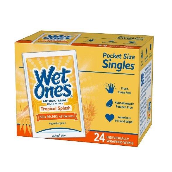 抗菌湿巾 独立包装 24张