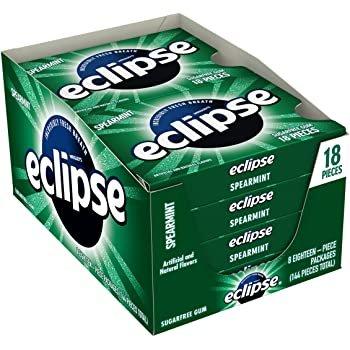 ECLIPSE 薄荷无糖口香糖, 8 盒