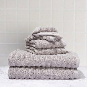 $9.99Mainstays Textured Performance Cotton Bath Set - 6 Piece Set