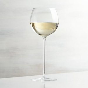 Camille 13 Oz. Long Stem Wine Glass - White + Reviews | Crate and Barrel