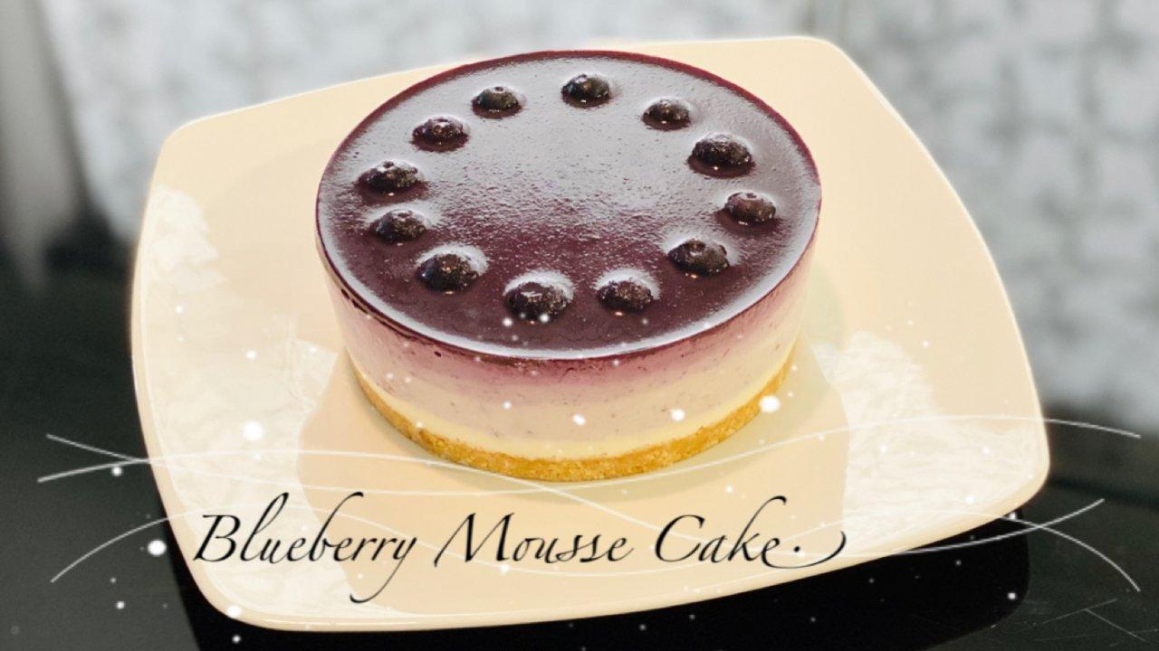 蓝莓渐变慕斯蛋糕