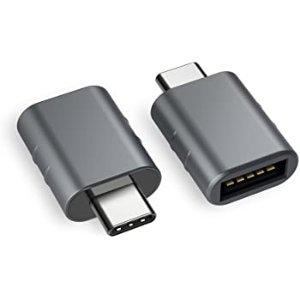 $9.99 Macbook刚需Syntech USB3.0 Type-C 转 Type-A 转接头 2个