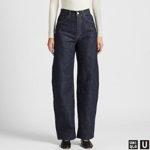 WOMEN U WIDE-FIT CURVED JEANS | UNIQLO US