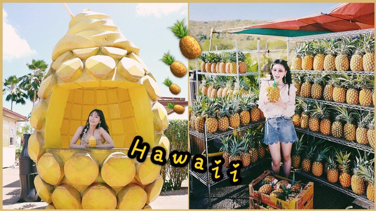夏威夷▪️去哪儿吃菠萝?!🍍带上菠萝裙打卡各种菠萝吧~🍍🍍