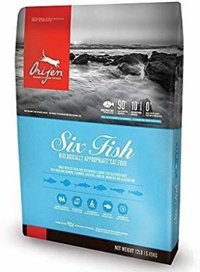 Amazon.com : Orijen 6 Fish for Cats 4 Pounds : Pet Supplies