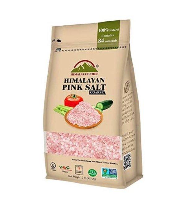Himalayan Chef 100%纯天然喜马拉雅粉盐 2磅大包装