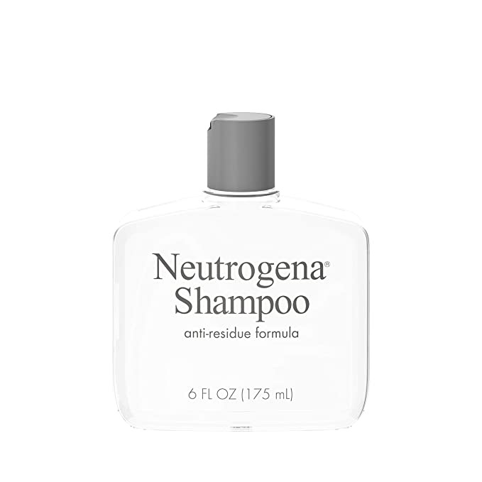 Neutrogena 露得清去残留洗发水Anti-Residue Clarifying Shampoo, Gentle Non-Irritating Clarifying Shampoo to Remove Hair Build-Up & Residue, 6 fl. oz : Beauty