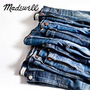 低至4折 牛仔裤$20+Madewell 小清新服饰限时闪购