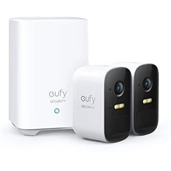 eufycam 2C 家庭安全系统 (2个1080P摄像头+Hub)