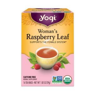 Amazon.com : Yogi Tea - Woman's Raspberry Leaf - Supports the Female System - 6 Pack, 96 Tea Bags Total : Herbal Teas : Grocery & Gourmet Food