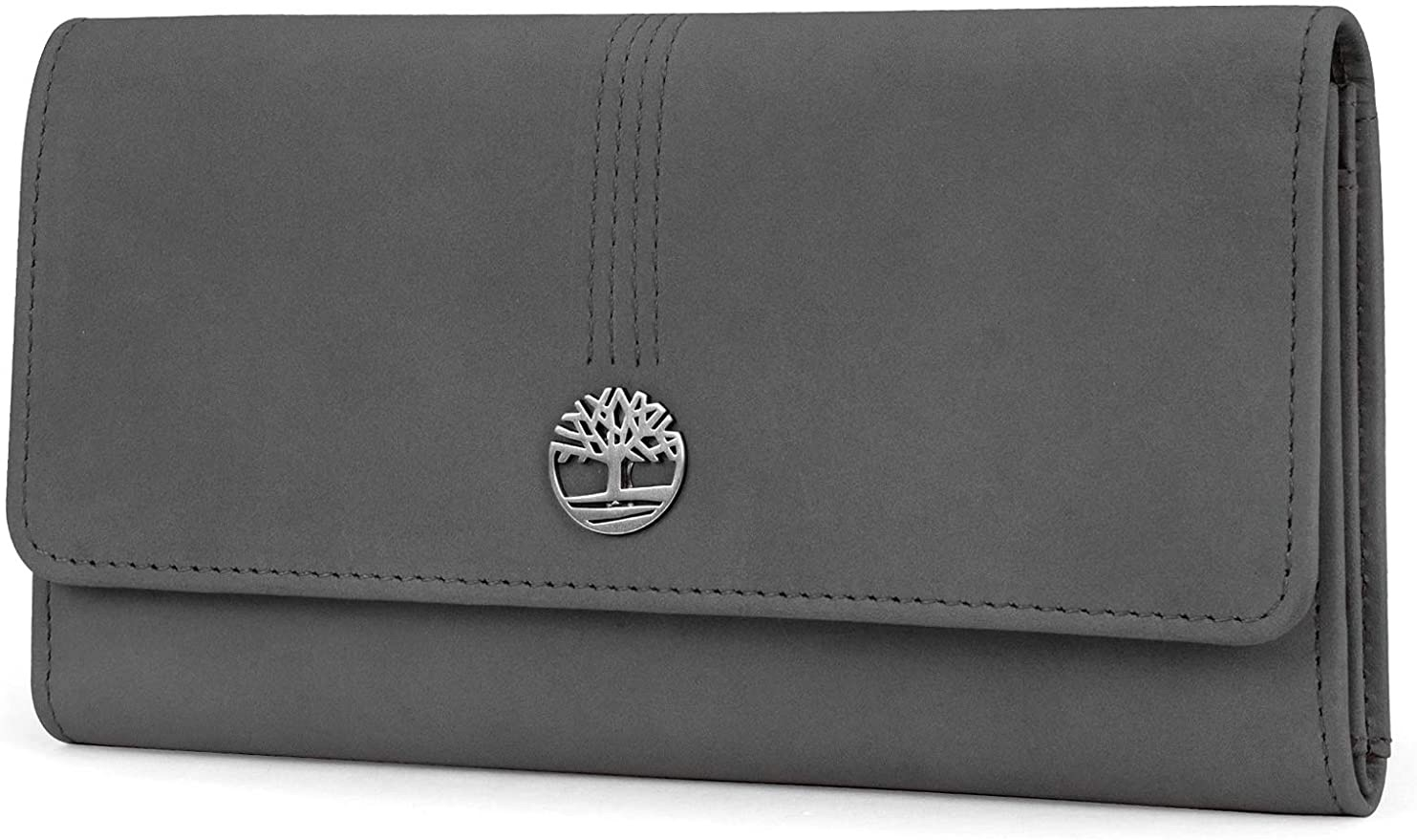 Timberland 女士钱包womens Leather Rfid Flap Clutch Organizer Wallet, Castlerock (Nubuck), One Size US: Shoes