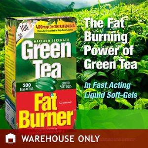 Green Tea Fat Burner, 200 Liquid Soft-Gels
