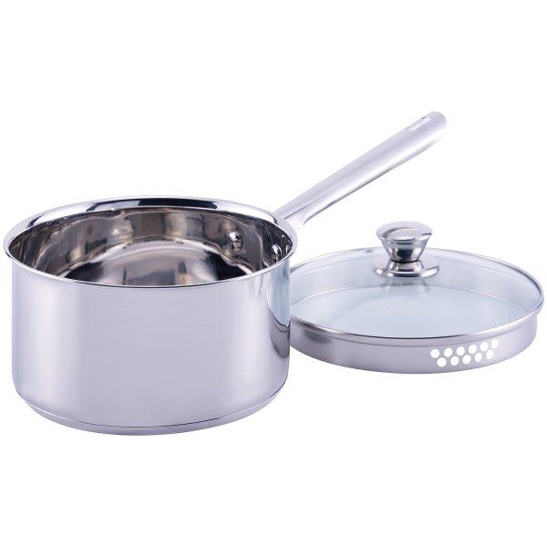 1 Quart 不锈钢带盖汤锅