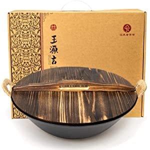 王源吉 13.4寸传统铸铁炒锅 中华老字号