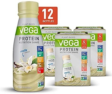 Vega Protein Shakes 香草味蛋白质奶昔 12瓶