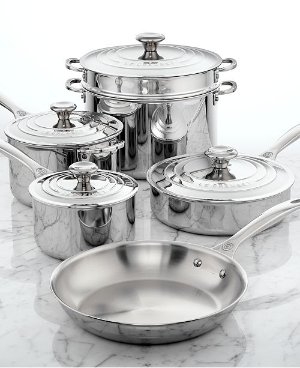 Le Creuset Stainless Steel 10 Piece Cookware Set & Reviews - Cookware Sets - Macy's