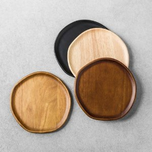 4pk Appetizer Plates Wood - Hearth & Hand™ With Magnolia : Target